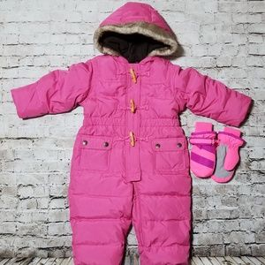 Baby Gap Snow Suit size 12-18 months & gloves